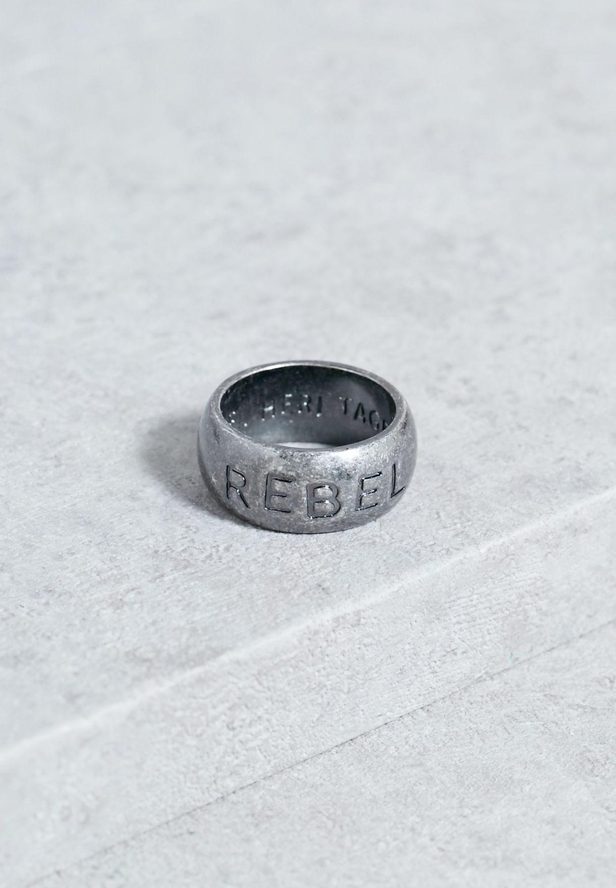 Large Rebel Stamp Band Ring