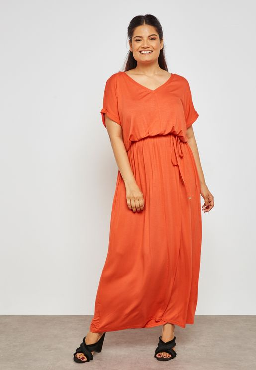 Tie Waist Maxi Dress