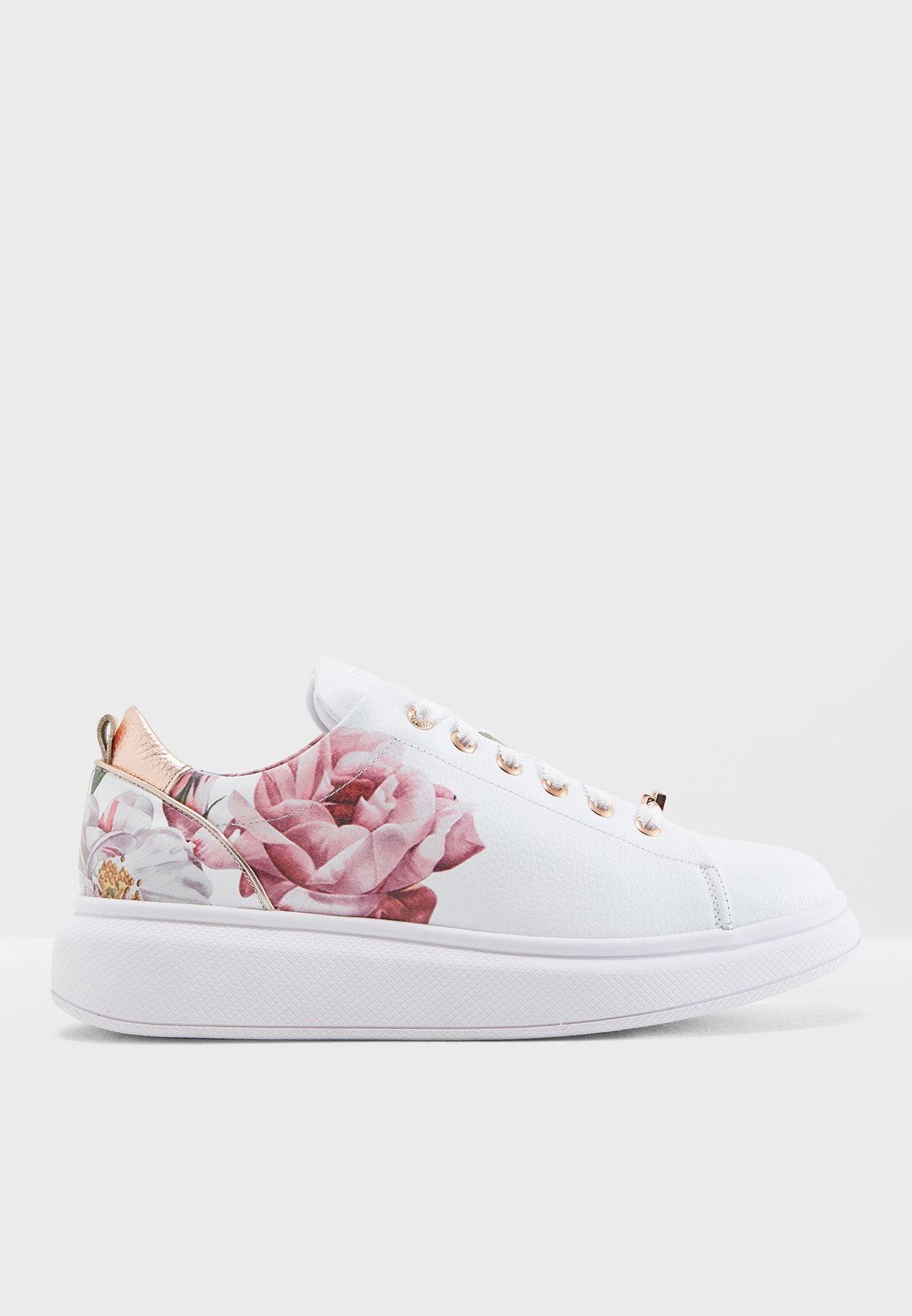 cb721e03e0be16 Shop Ted baker white Ailbe 2 Sneaker 917743 for Women in UAE ...