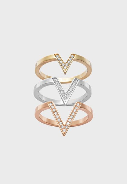 3 Pack Large Delta Motif Rings
