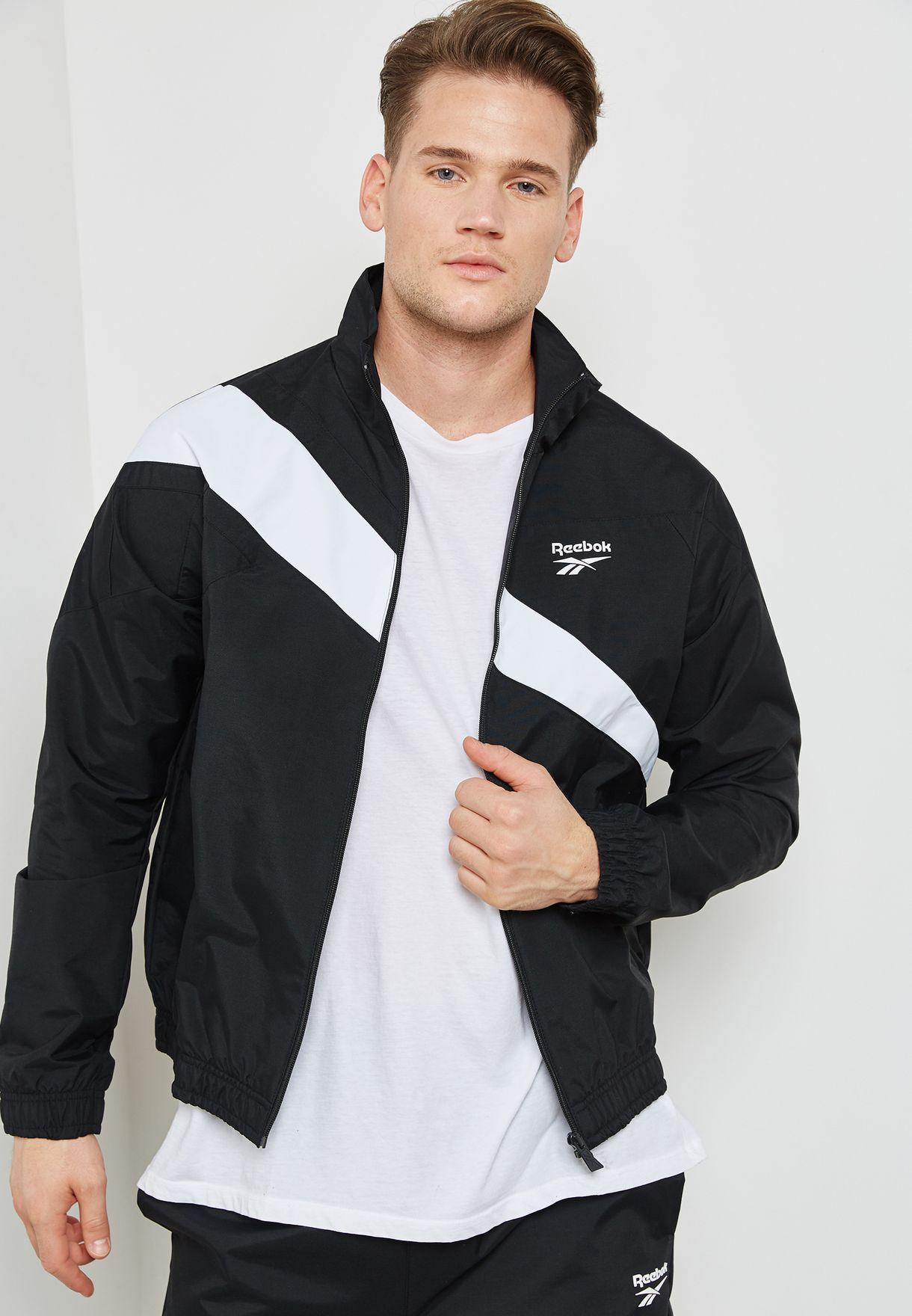 24152164132 Shop Reebok black LF Track Jacket CE4995 for Men in UAE - RE019AT44XWP