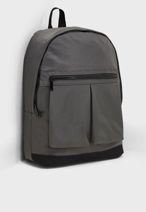 Laptop Sleeve Color Block Backpack