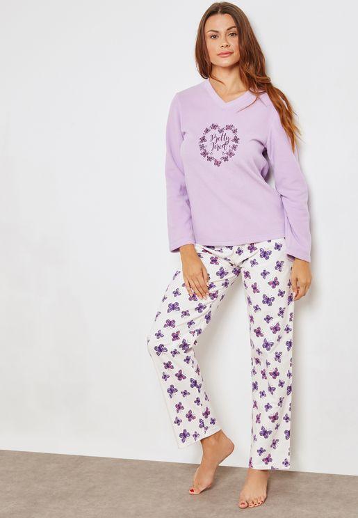 Butterfly Print Pyjama Set