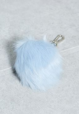 Embroidered Pom Pom Keyring