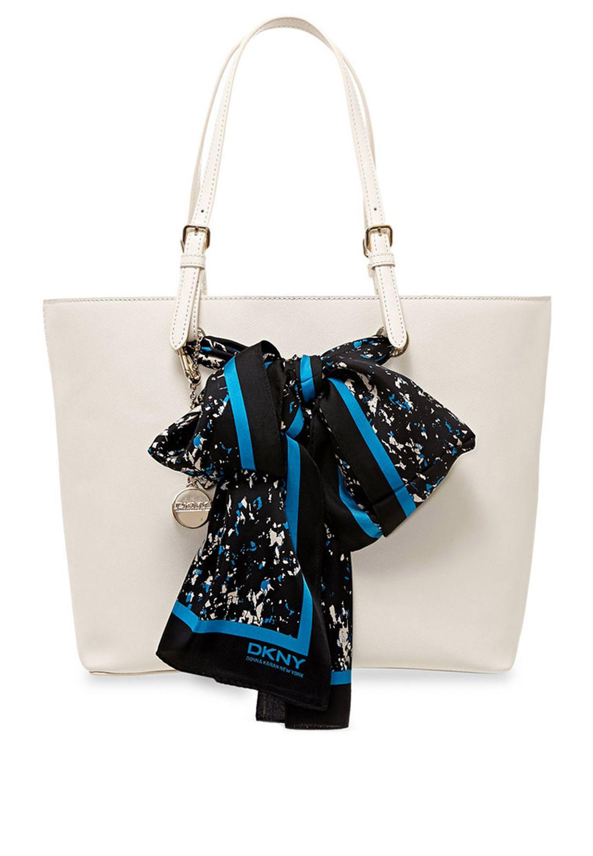 30a3f57938eda Shop DKNY blue Bow Shopper R3310901 for Women in UAE - DK790AC44JBR