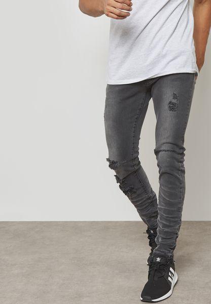 Vintage Black Ian Slim Fit Jeans