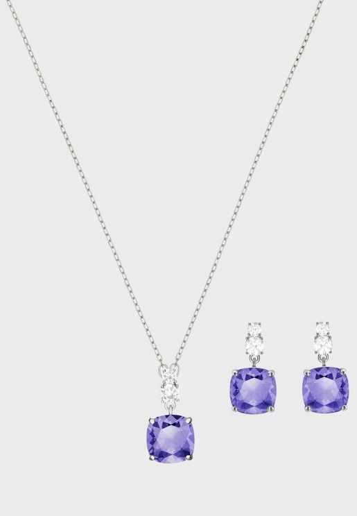 Vintage Necklace+Earrings Set