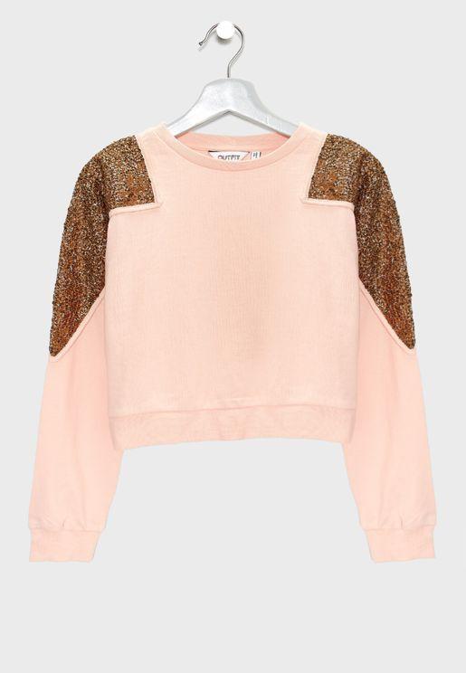 Teen Sequin Sweatshirt