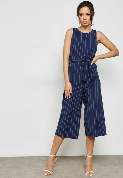 Tie Waist Striped Dress