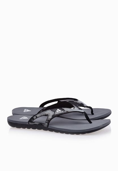 adidas Men'S Calo 5 Gr M Grey, White and Red Flip-Flops and House Slippers - 10 UK