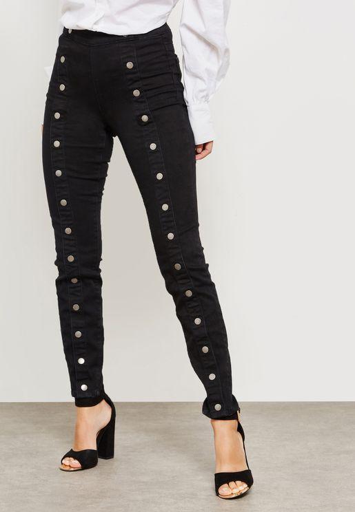 Popper Skinny Jeans