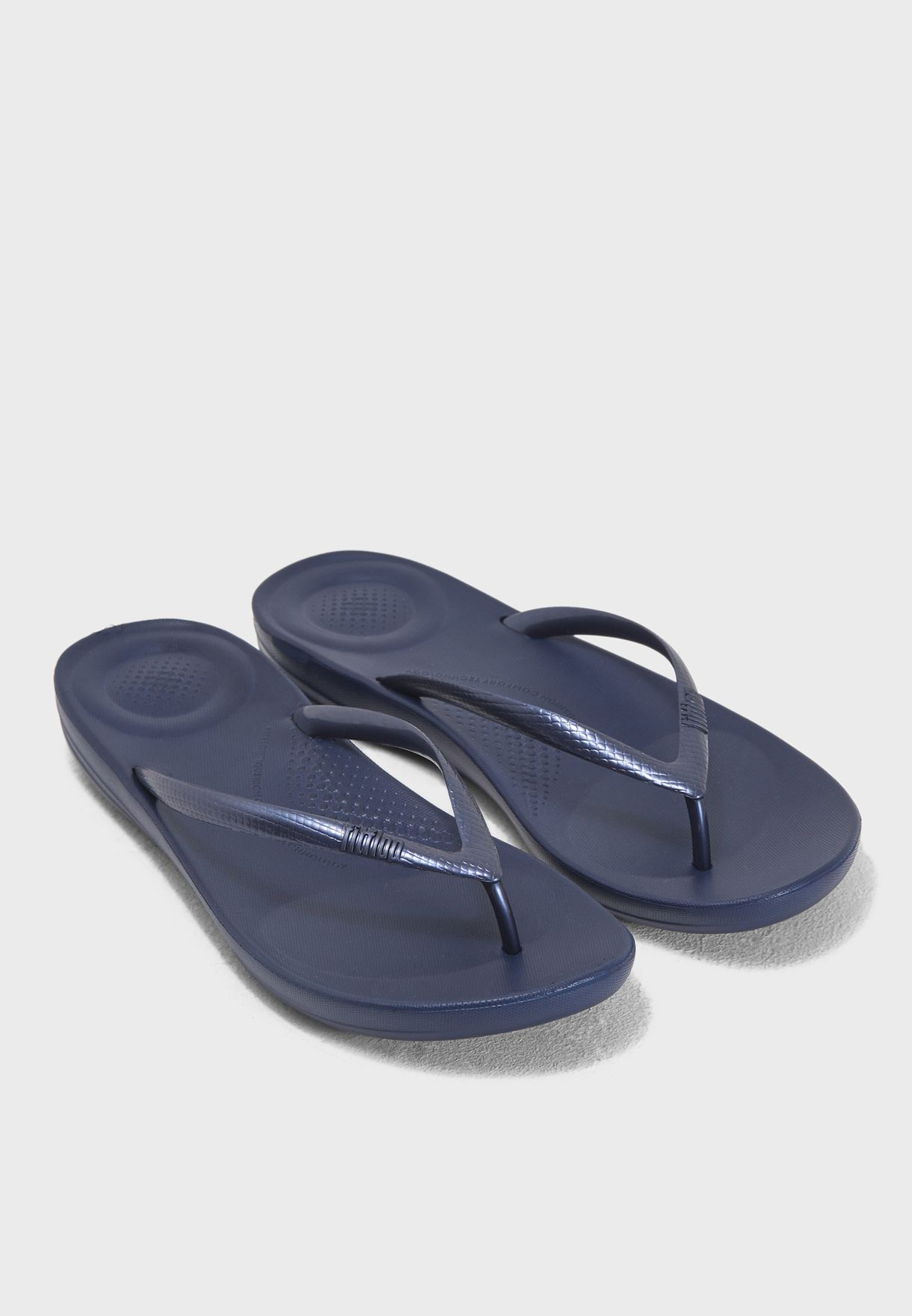 9ca6eaa78848 Shop Fitflop navy Iqushion Ergonomic Flip-Flops E54-399 for Women in ...