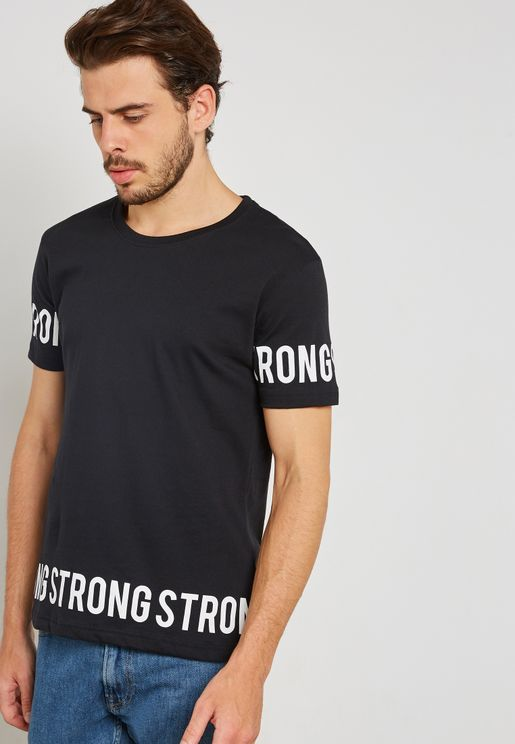 Strong Taped Crew Neck T-Shirt