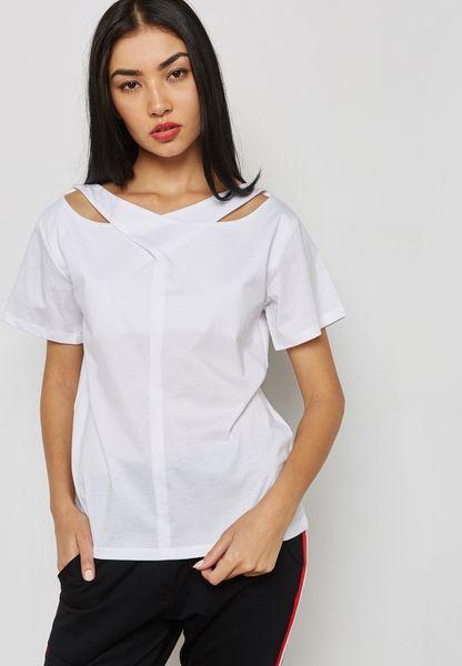 Cut Out Neck T-Shirt