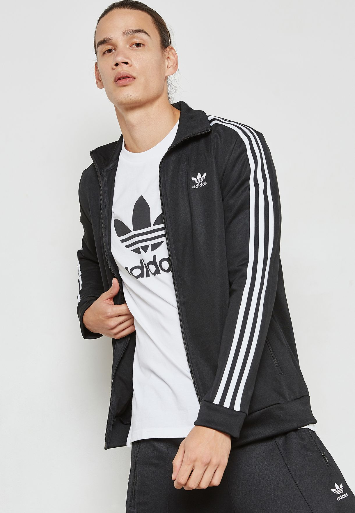 e56fec405aa8 Shop adidas Originals black adicolor Beckenbauer Track Jacket CW1250 ...