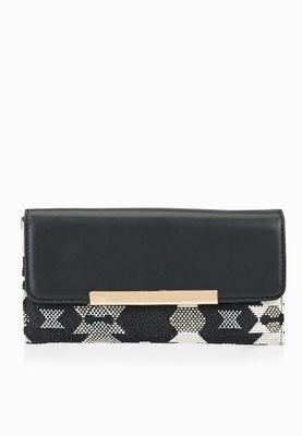 New Look Aztec Flapover Purse
