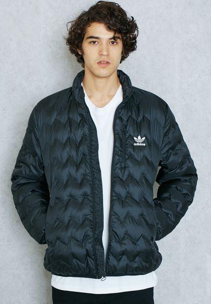 Shop Adidas Originals Black Serrated Jacket Az1355 For Men