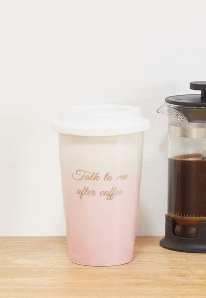 Travel Mug - Talk To Me After Coffee