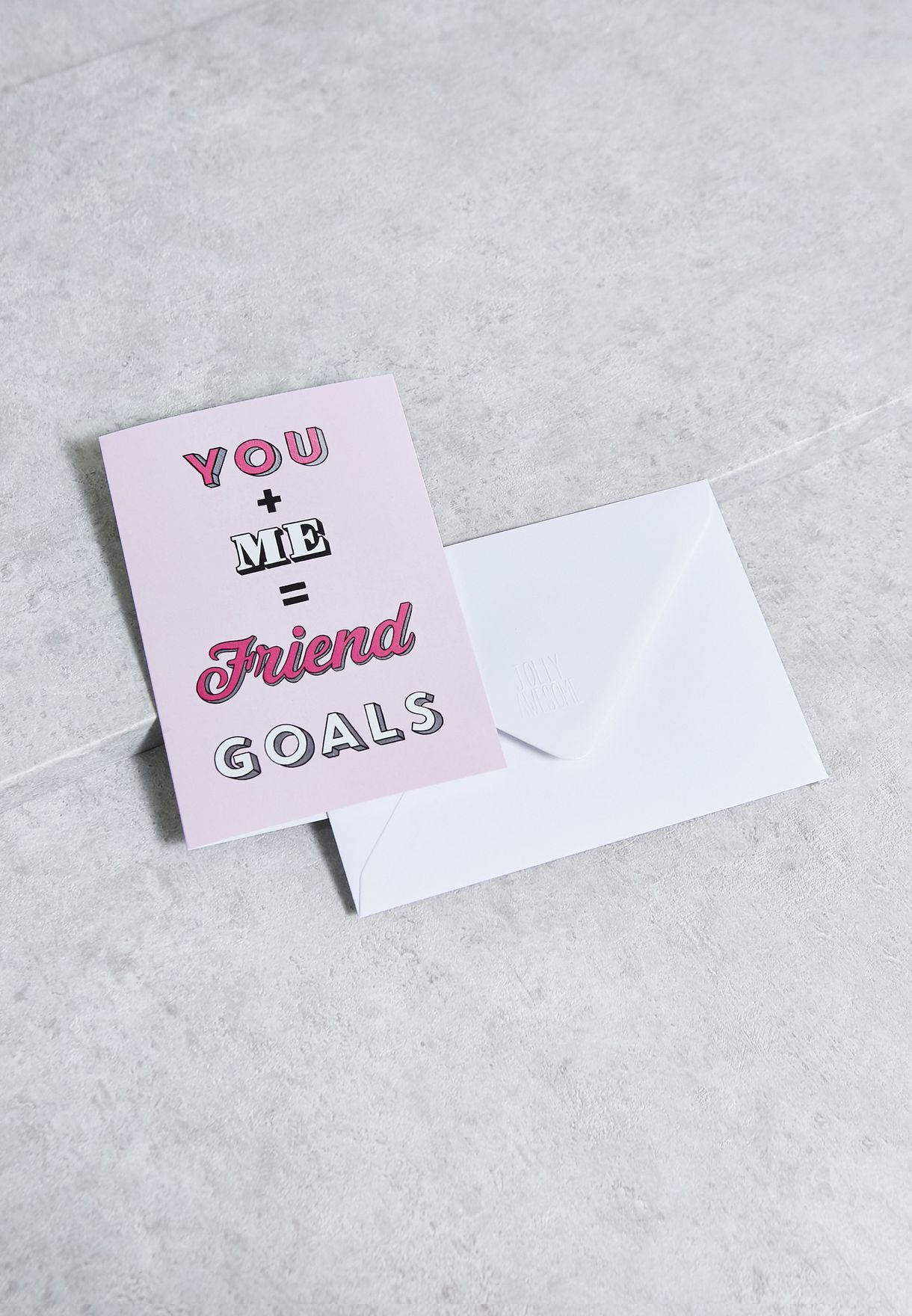 Friend Goals A6 Greeting Card