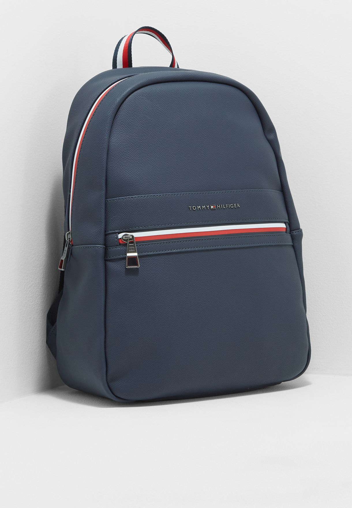 104f55ffc98a Shop Tommy Hilfiger navy Essential Backpack AM0AM02700413 for Men in ...