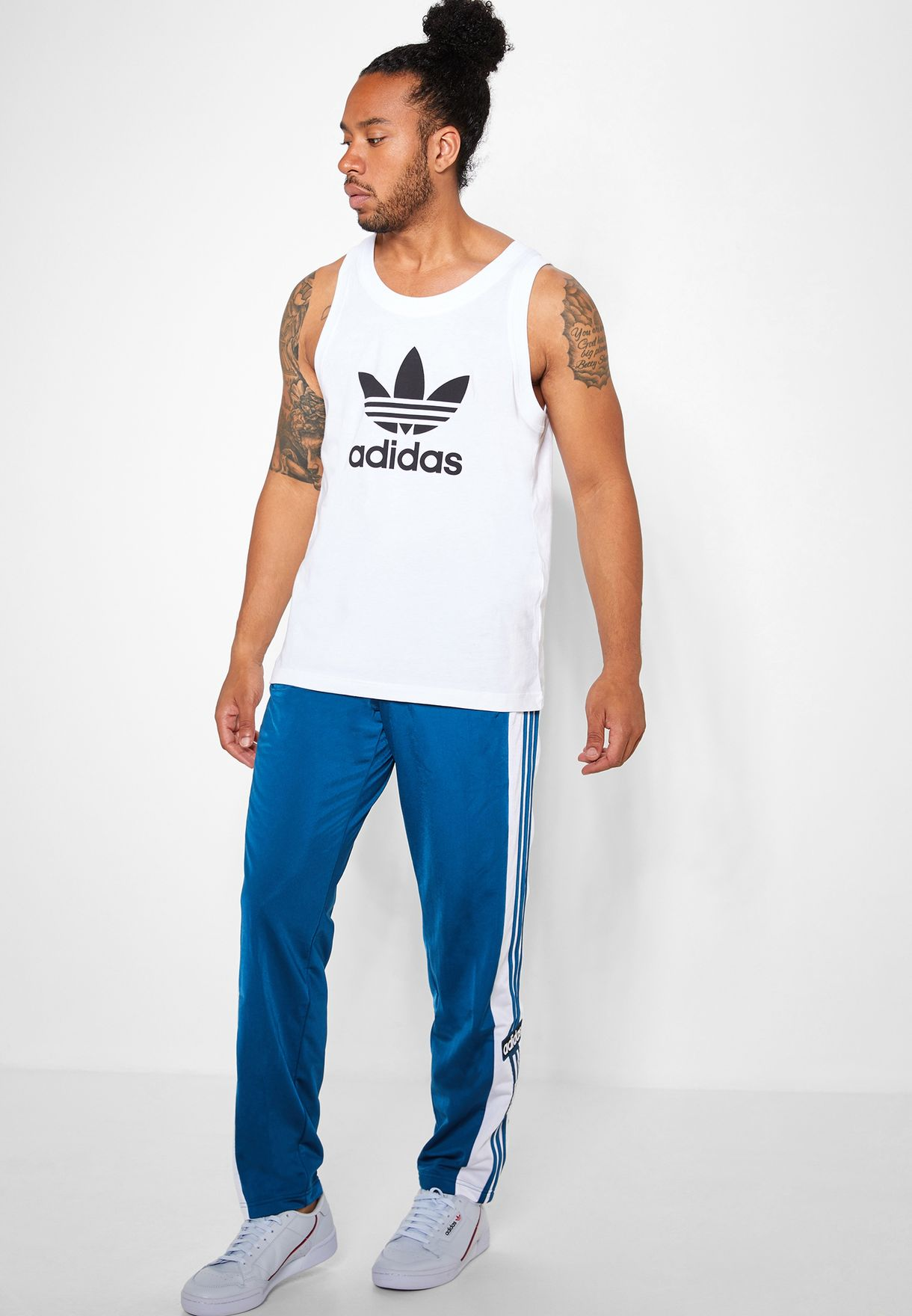 2d043b6215f5c Shop adidas Originals blue adicolor Adibreak Track Pants DV1592 for ...