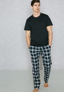 Grandad Collar Pyjama Set