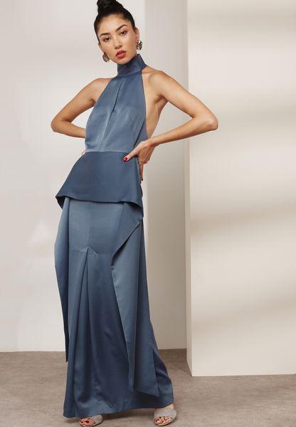 Open Back Peplum Dress