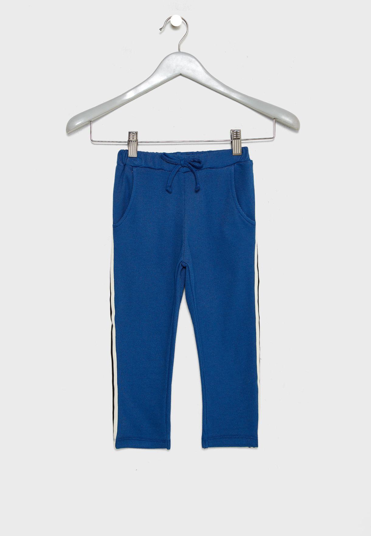 Shop Noe   Zoe blue Little Side Striped Pants A19032 for Kids in UAE ... f63415639