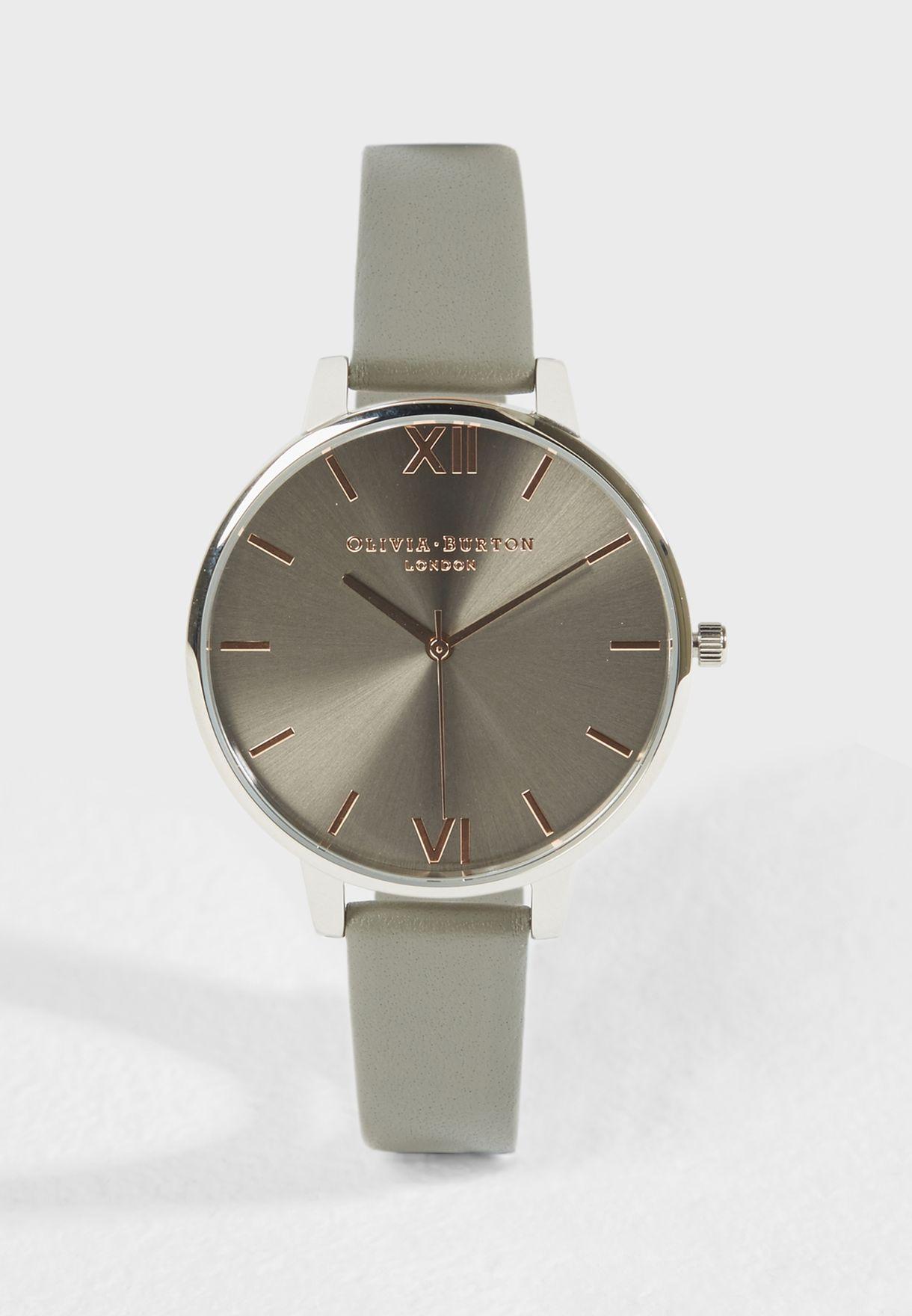 ساعة عصرية جلد اصلي