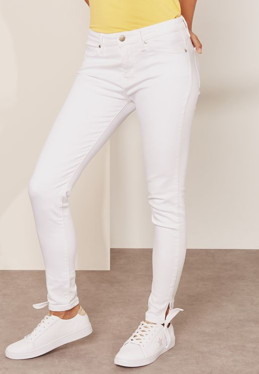 Como Ankle Bow Skinny Jeans