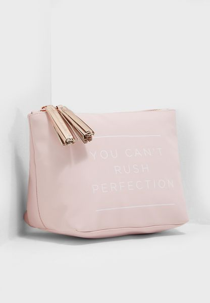 Large Blush Perfection Florence Cosmetic Bag