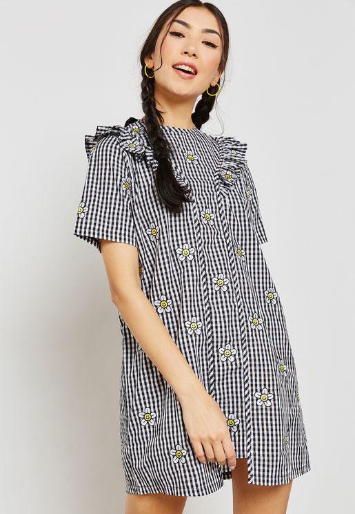 Daisy Gingham Ruffle Dress