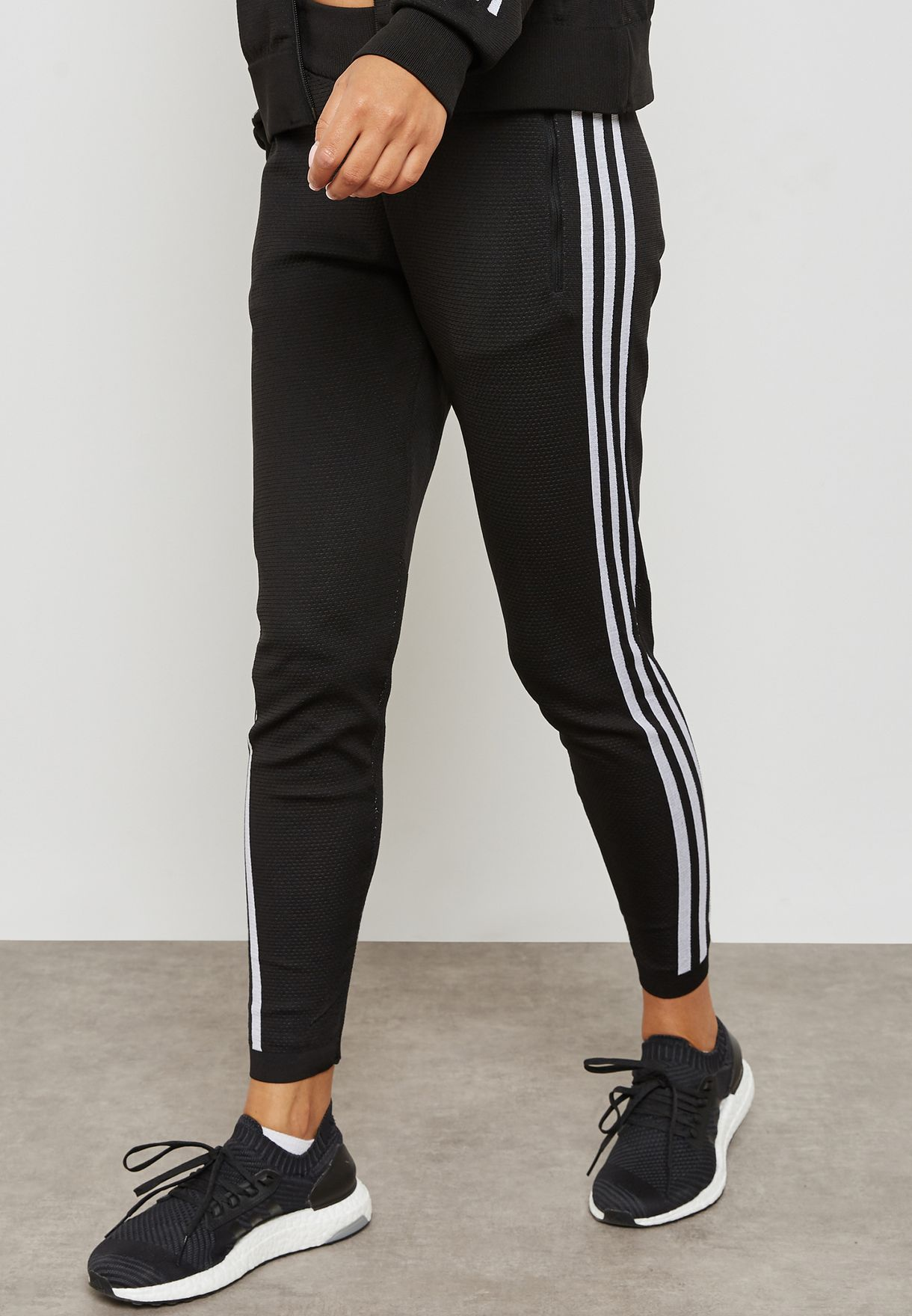 6f8b6d78c1b5c Shop adidas black ID 3 Stripes Sweatpants CF0333 for Women in Saudi ...