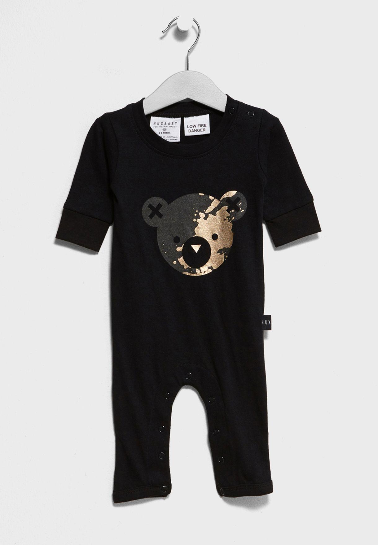 28acbf7db66f Shop Huxbaby black Infant Romper Hb644 for Kids in Qatar - HU268AT34DKJ