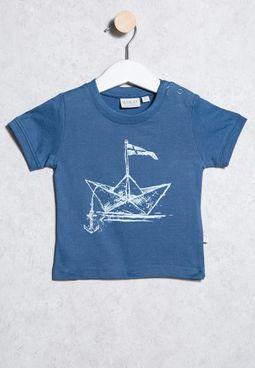 Infant Ship Print T-Shirt
