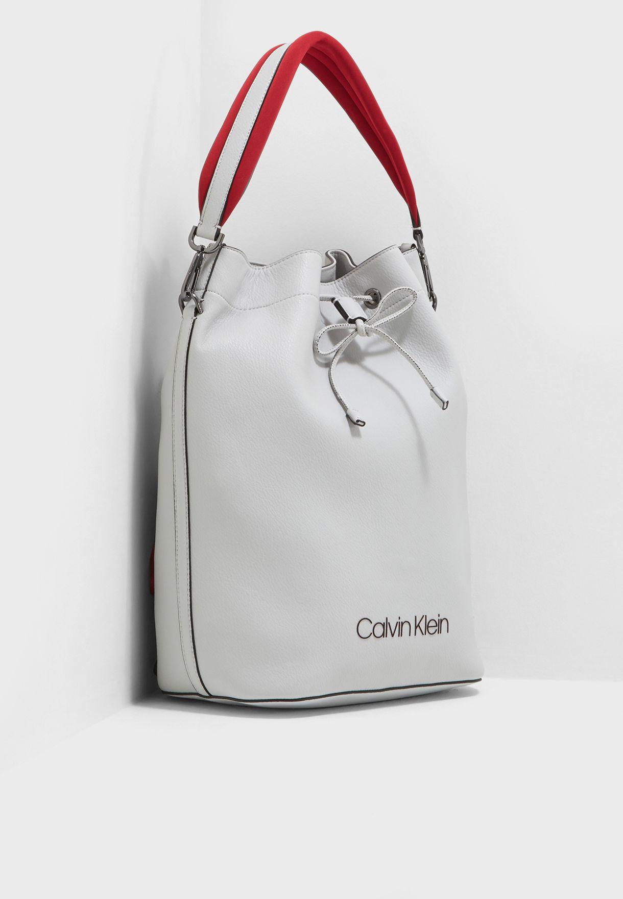 b473fec969b Shop Calvin Klein grey Pop Touch Backpack K60K604288002 for Women in ...