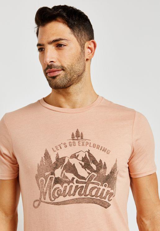 Mountain Crew Neck T-Shirt