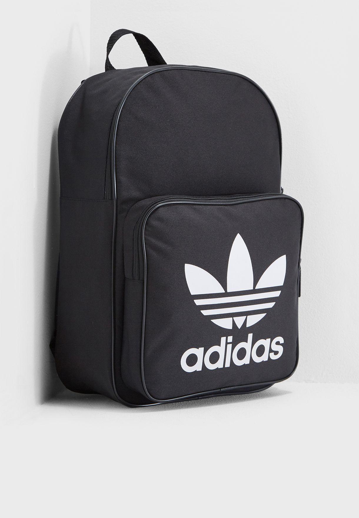 7cb86251114 Shop adidas Originals black Trefoil Classic Backpack DJ2170 for Men ...