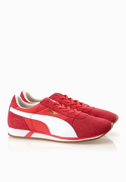 Puma Retro Jogger Basic Red Sneakers - Women