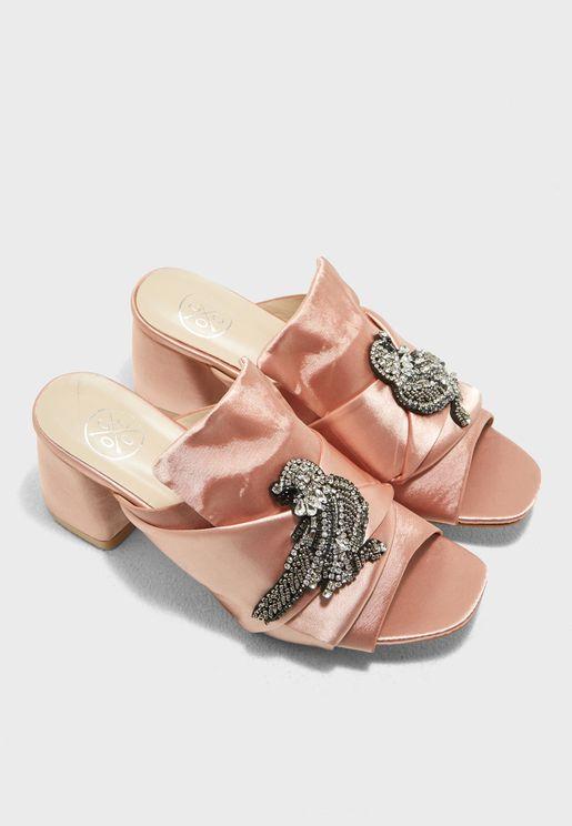 Shea Block Heel Sandal