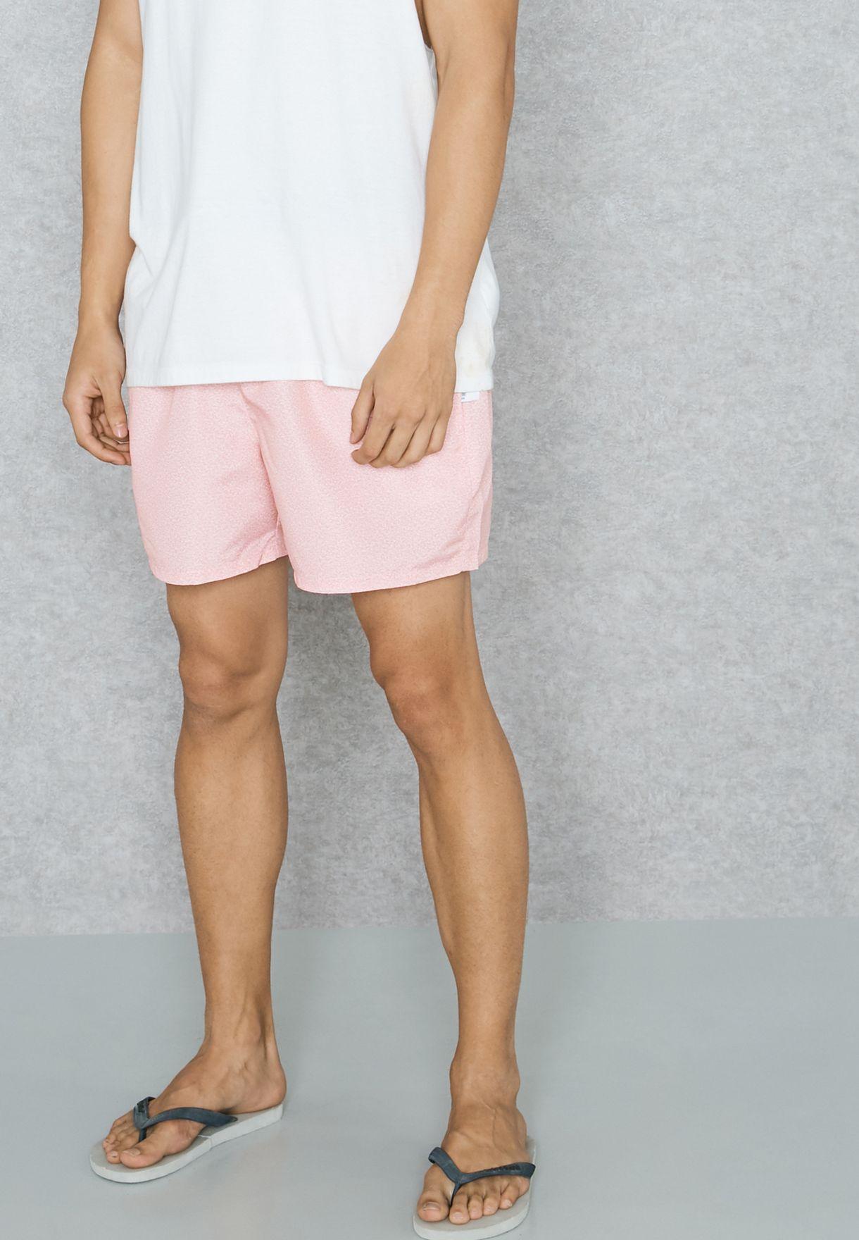 85eb67a04b Shop Topman pink Marl Print Swim Shorts 33L15NPNK for Men in Bahrain ...