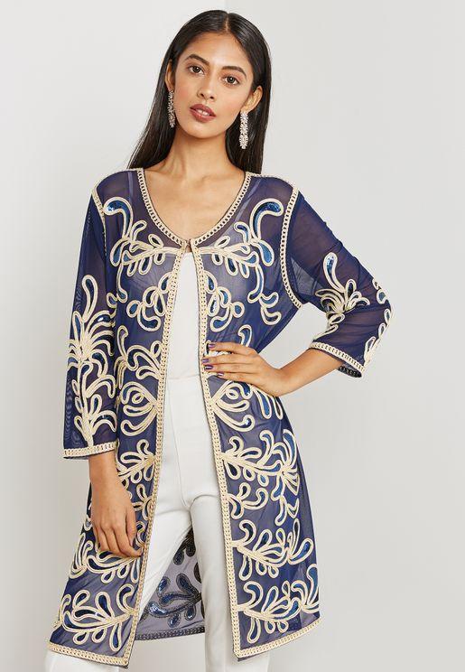 Longline Embellished Jacket