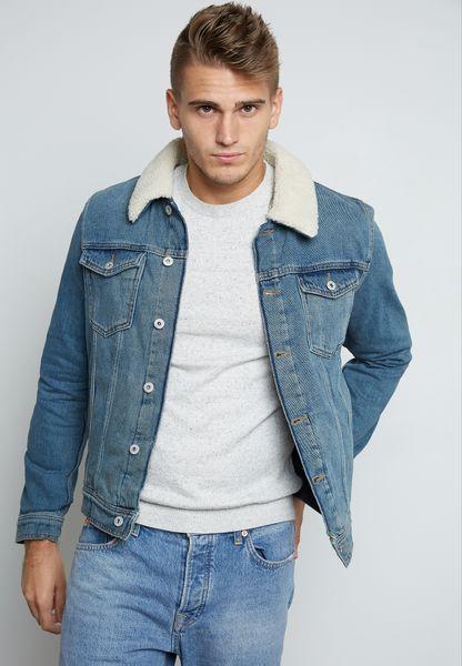 Borg Denim Jacket