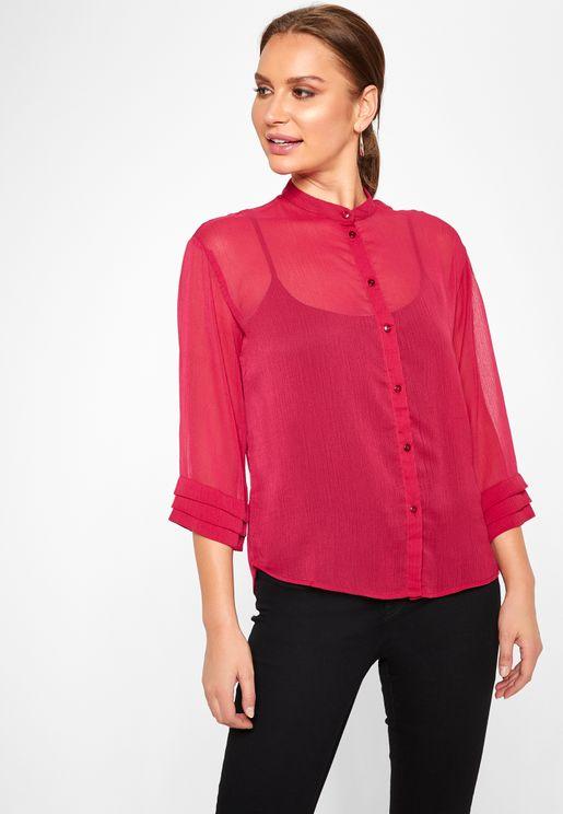 Layered Sleeve  Shirt