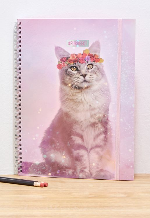 A4 Festival Cat Spinout Notebook