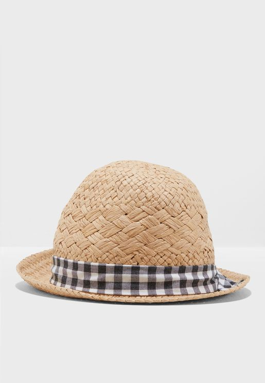 Gingham Band Trilby Hat