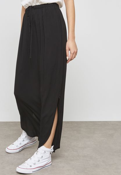 Tie Waist Long Skirt
