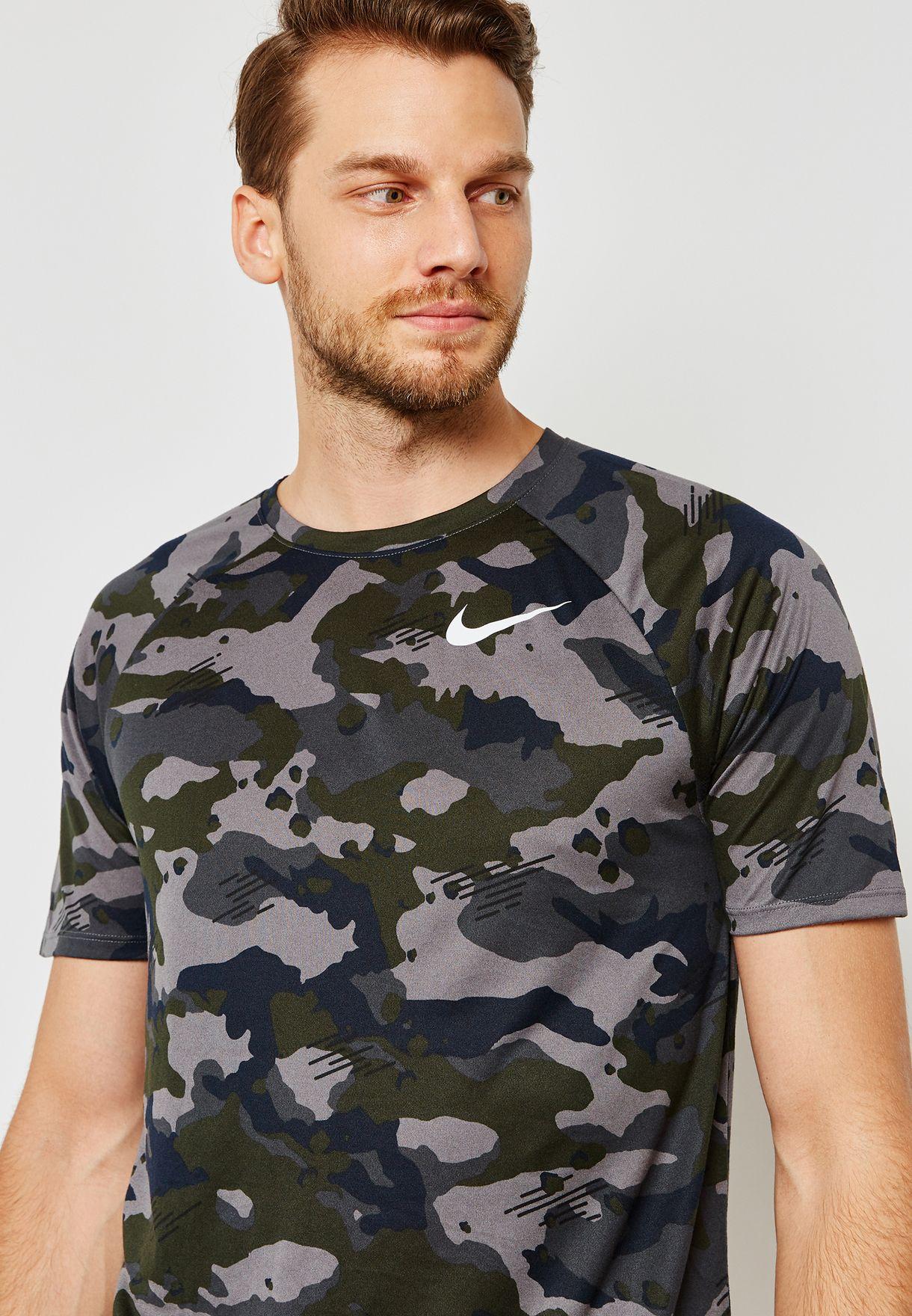 6319104d3 Shop Nike prints Dri-FIT Camo T-Shirt 923524-036 for Men in UAE ...