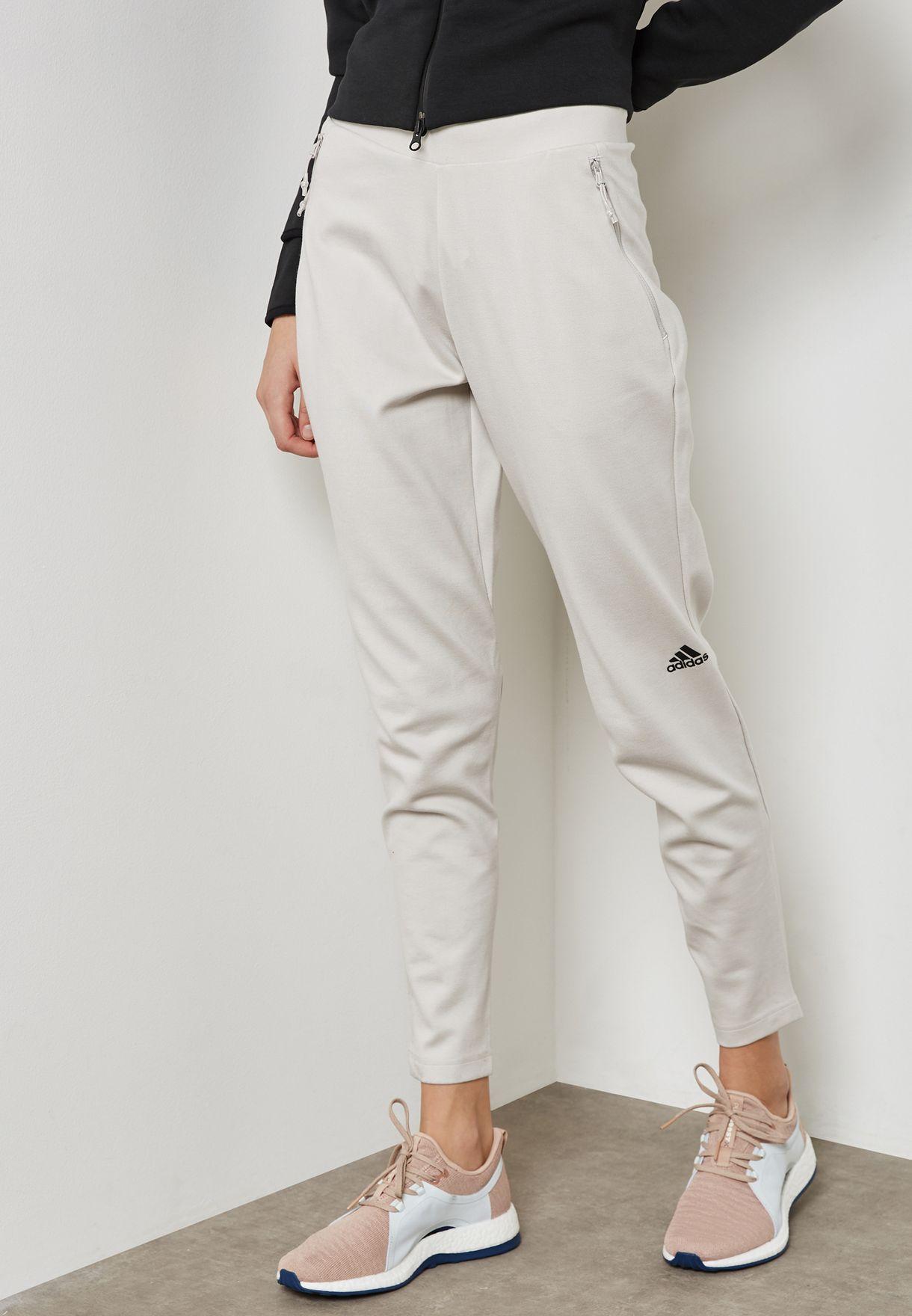 72c988648452 Shop adidas beige Z.N.E Strike Sweatpants CE5105 for Women in UAE ...