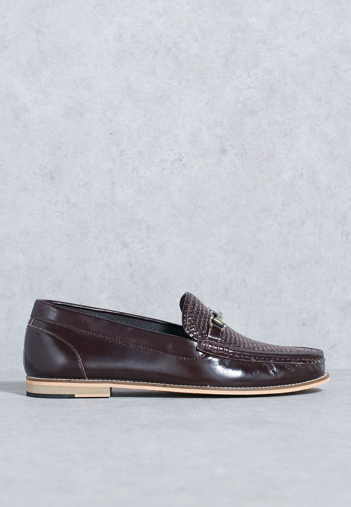 99a189b7a9e Shop Topman browns Weave Loafers 76F42NBUR for Men in Bahrain ...